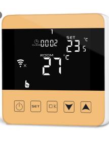 WiFi termostat v zlatej...