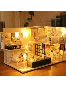 3D drevený micro LED domček...